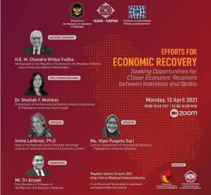 Webinar on Economic Relations between Indonesia & Serbia!